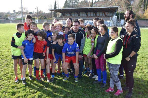 Geoffrey Palis, parrain des classes de rugby du collège Puységur à Rabastens